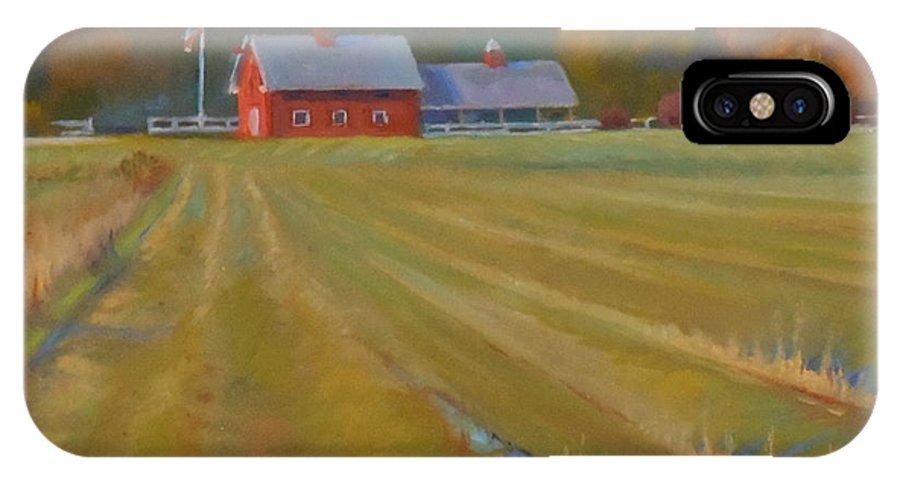 IPhone X / XS Case featuring the painting Fresh Cut Adams Farm by JT Harding