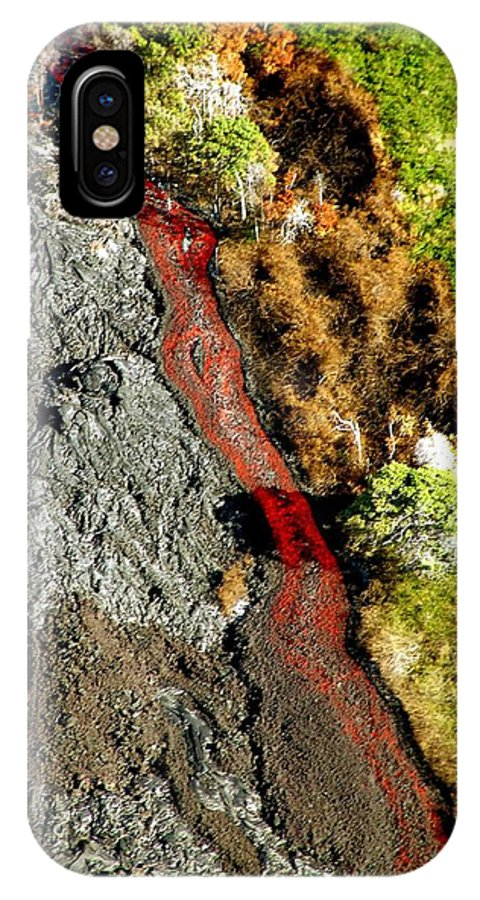 Lava IPhone X Case featuring the photograph Fresh River Of Lave by Eric Swan