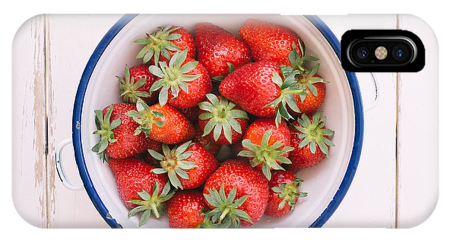 Food IPhone X Case featuring the photograph Fresh Strawberries by Viktor Pravdica