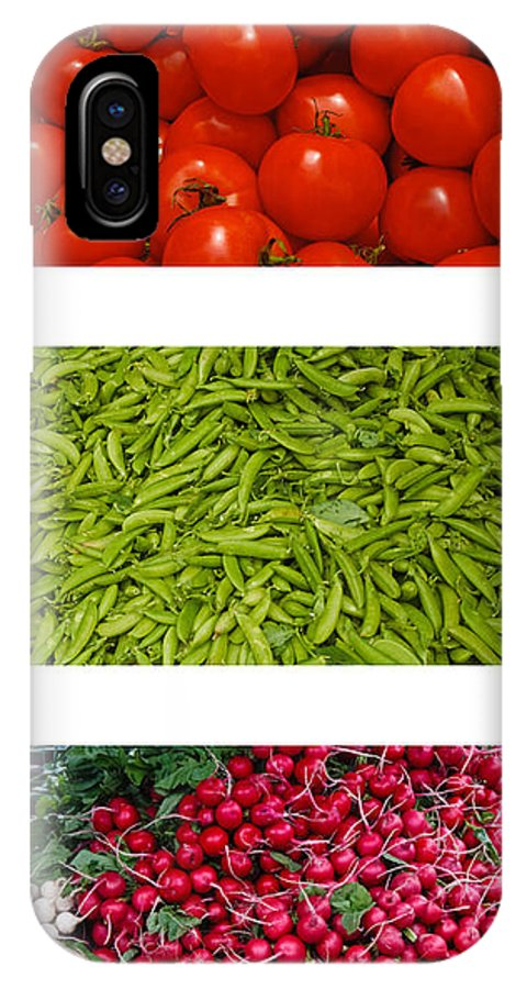 Tomato IPhone X Case featuring the photograph Fresh Vegetable Triptych by Thomas Marchessault