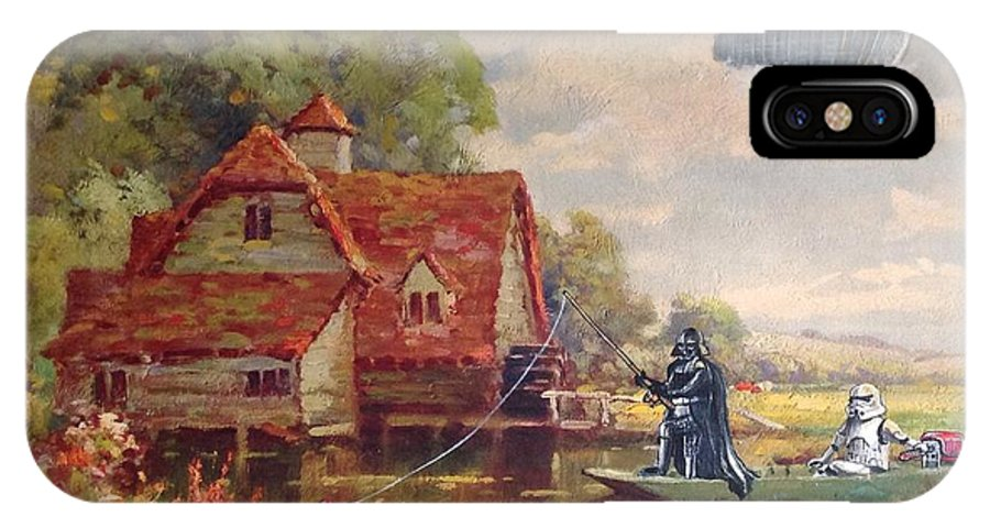 Star Wars IPhone X Case featuring the painting Friday Afternoon by David Irvine
