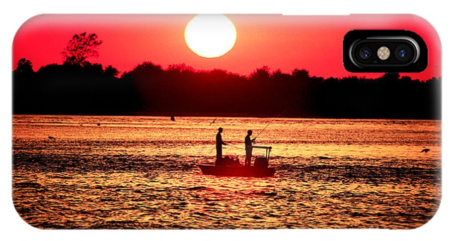 Friend IPhone X Case featuring the photograph Friends At Long Beach Island by John Rizzuto