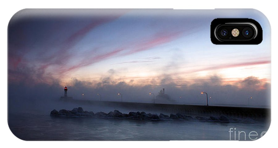 Canal Seasmoke IPhone X Case featuring the photograph Frigid Canal II by Jamie Rabold