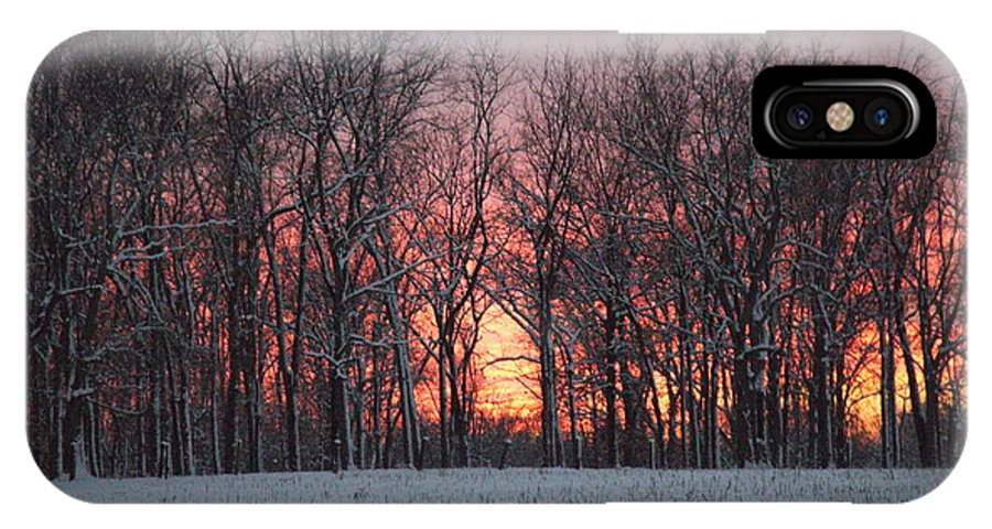 Cold IPhone X Case featuring the photograph Frigid Warmth by Clayton Kelley