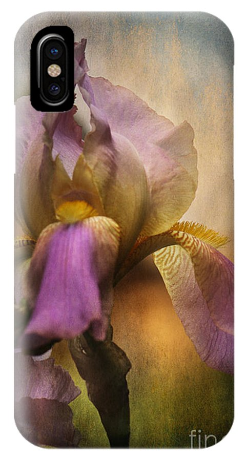 Iris IPhone X Case featuring the photograph Frilled Beauty by Sari Sauls