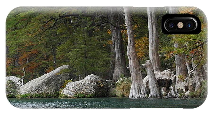 Fall IPhone X Case featuring the photograph Frio River 2 by Andrew McInnes