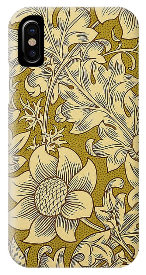 William IPhone X Case featuring the mixed media Fritillary Design 1885 by William Morris