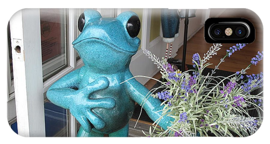 Frog IPhone X / XS Case featuring the photograph Frog Suitor by Barbara McDevitt