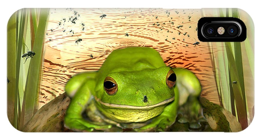 Nature IPhone X Case featuring the photograph Froggy Heaven by Holly Kempe