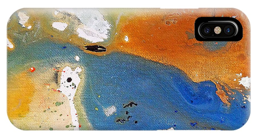 Abstract IPhone X Case featuring the painting Frolic by Ruth Palmer