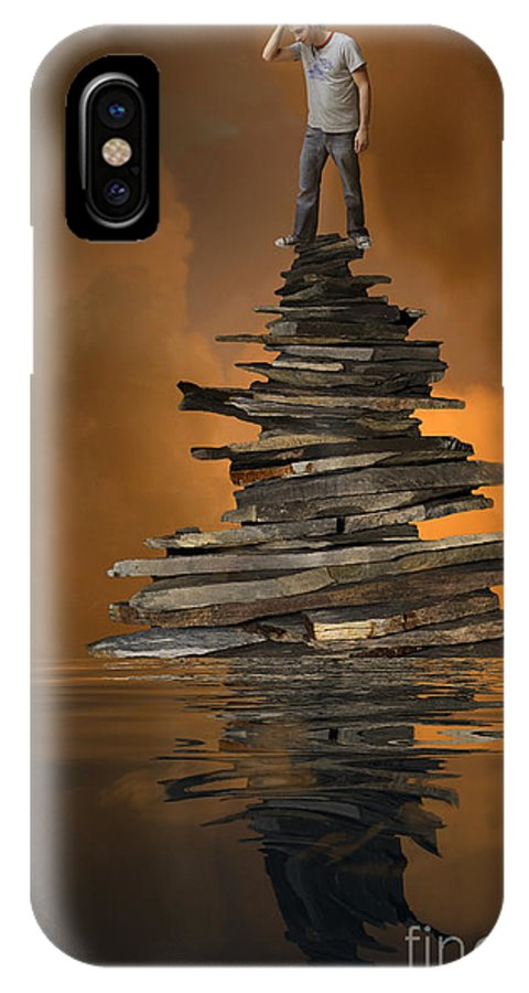 Buildings IPhone X Case featuring the digital art From Above by Angelika Drake