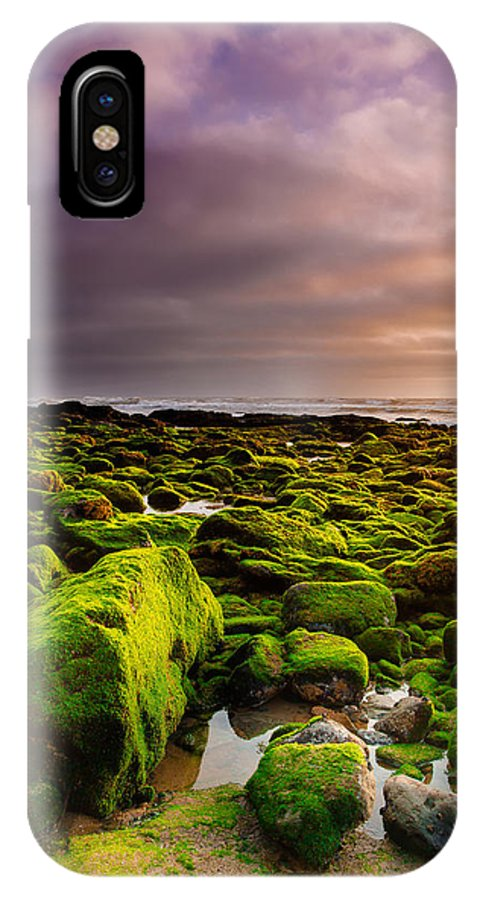 Beach IPhone X Case featuring the photograph From Rock To Rock by Edgar Laureano