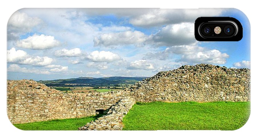 Castle IPhone X Case featuring the photograph From The Castle To The Hills by Frank Luxford