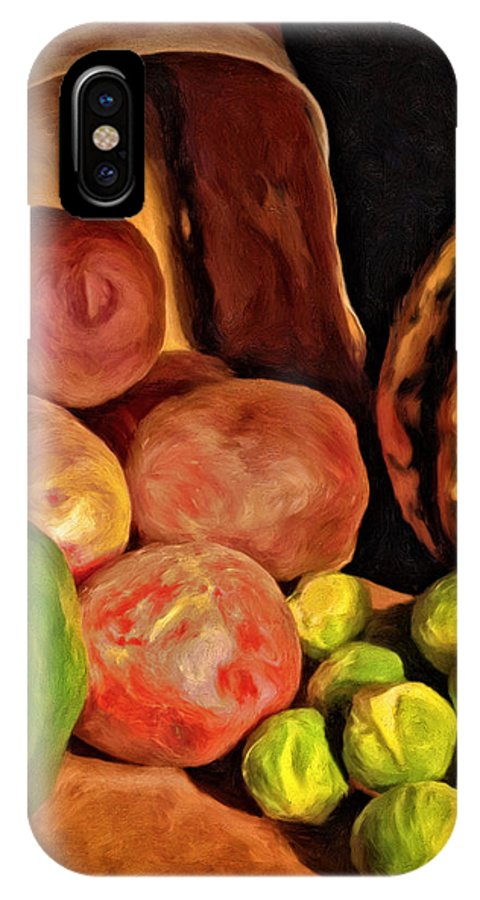 Vegetables IPhone X Case featuring the painting From The Garden by Michael Pickett