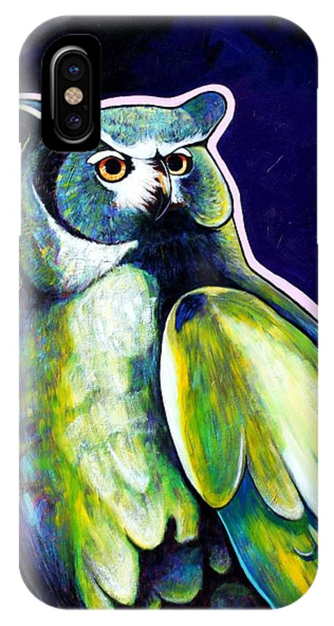 Owl IPhone Case featuring the painting From The Shadows by Joe Triano