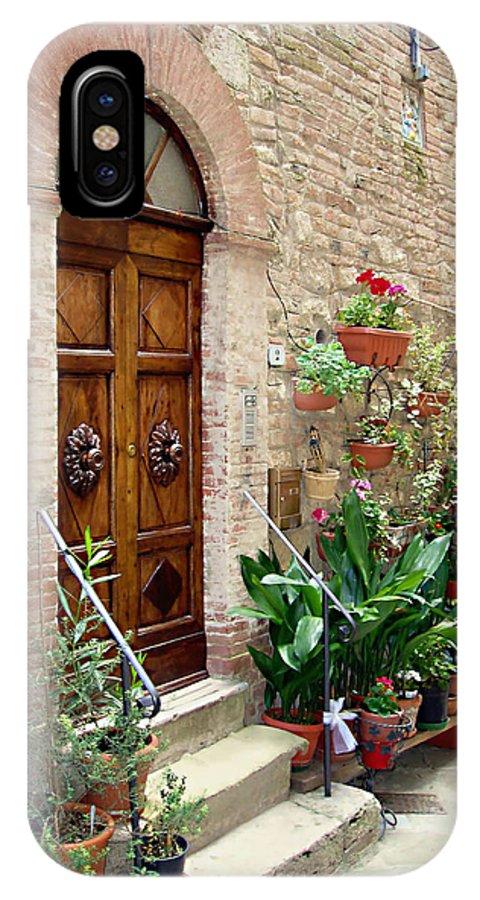 Front Door IPhone X Case featuring the photograph Front Door by Ellen Henneke
