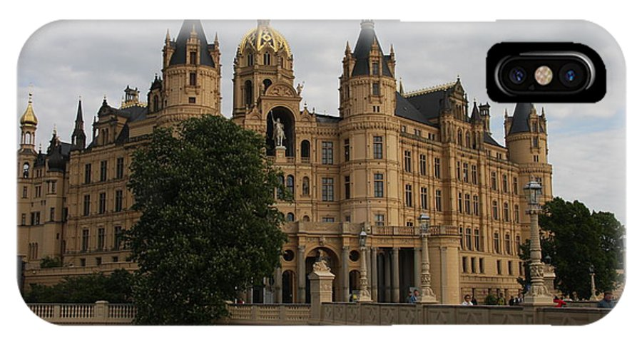 Schwerin IPhone X Case featuring the photograph Front View Of Palace Schwerin by Christiane Schulze Art And Photography