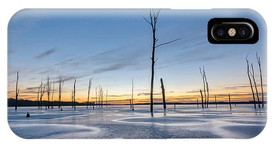Frost Bite IPhone X / XS Case featuring the photograph Frost Bite by Michael Ver Sprill