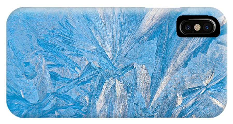 Frost IPhone X Case featuring the photograph Frosty Window Art by Cheryl Baxter