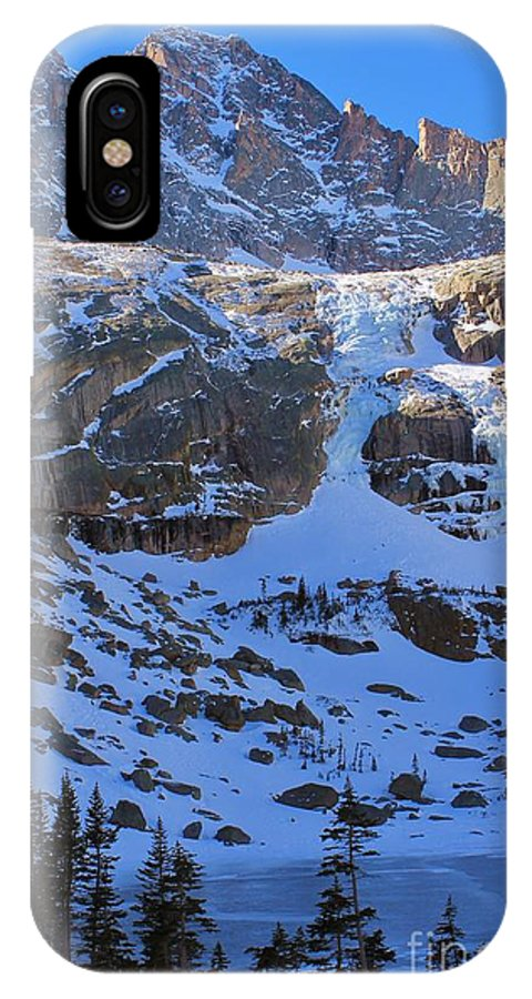 Frozen IPhone X Case featuring the photograph Frozen Black Lake by Tonya Hance