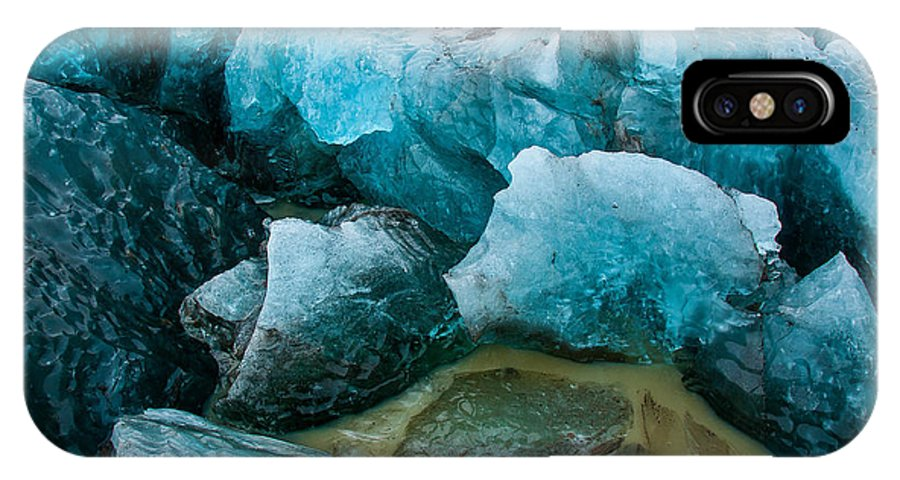 Ice IPhone X Case featuring the photograph Frozen Embrace by Jim Southwell