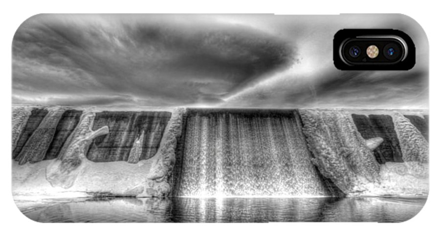 Dam IPhone X / XS Case featuring the photograph Frozen Falls by Chance Chenoweth