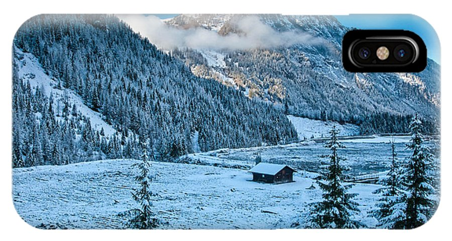 Austria IPhone X Case featuring the photograph Frozen Field by Jim Southwell