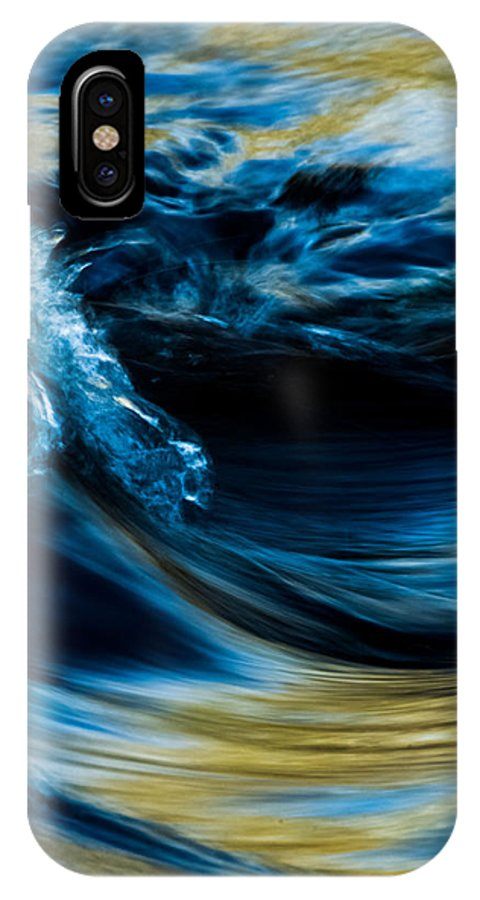 Water Rushing IPhone X Case featuring the photograph Frozen In Time by Ronald Hunt