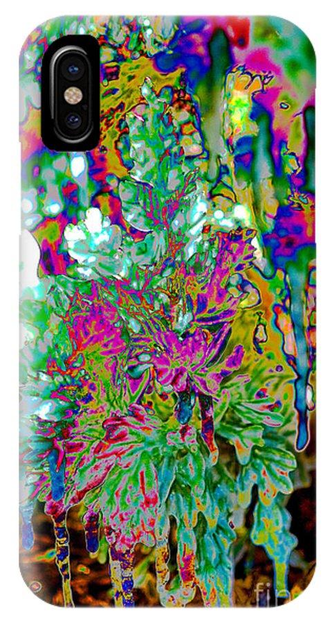 Frozen Juniper Landscape Photograph IPhone X Case featuring the digital art Frozen Juniper by Mae Wertz