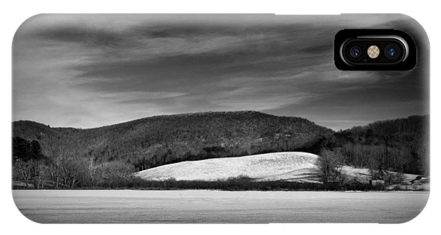 Winter IPhone X Case featuring the photograph Frozen Lake by Joshua Snead