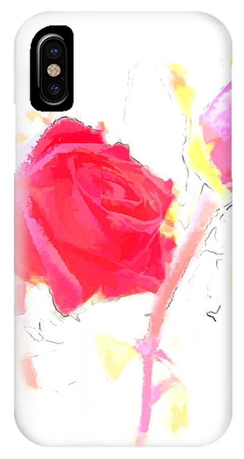 Rose IPhone X Case featuring the photograph Frozen Rose by Richard Rutan