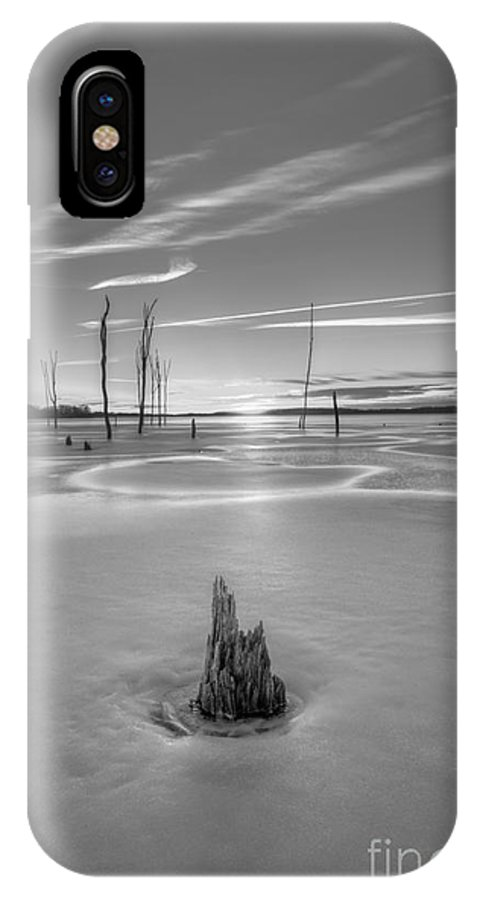 Frost Bite IPhone X Case featuring the photograph Frozen Sunrise Bw by Michael Ver Sprill