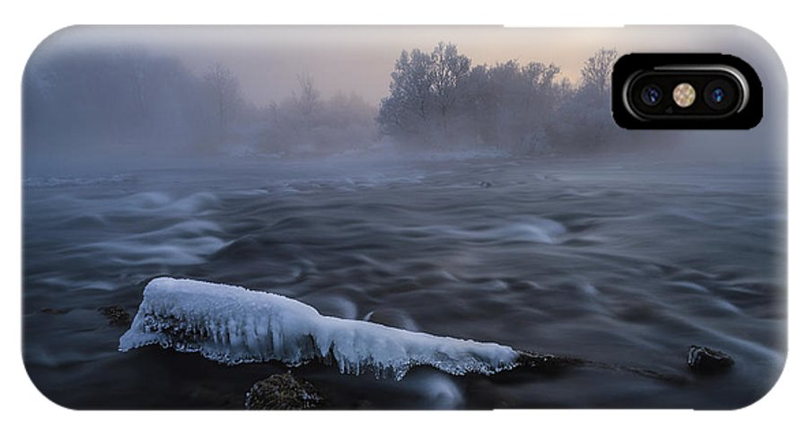 Sun IPhone X Case featuring the photograph Frozen by Tom Meier