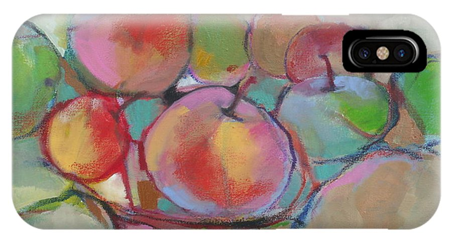 Still Life IPhone X / XS Case featuring the painting Fruit Bowl #5 by Michelle Abrams