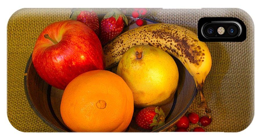 Fruit IPhone X Case featuring the photograph Fruit Bowl Still Life by Douglas Barnett