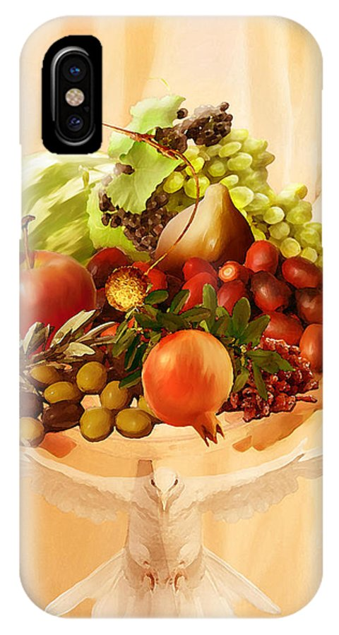 Fruit Of The Spirit IPhone X Case featuring the painting Fruit Of The Spirit by Jennifer Page