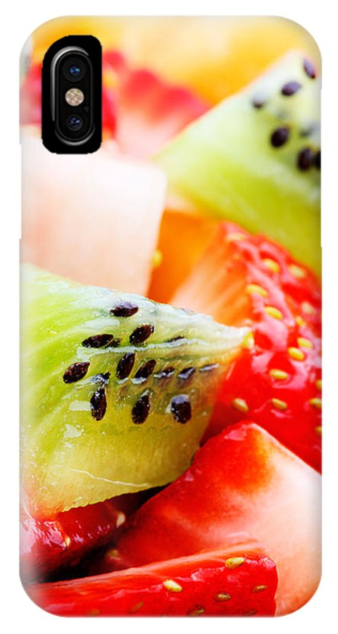Fruit IPhone X Case featuring the photograph Fruit Salad Macro by Johan Swanepoel