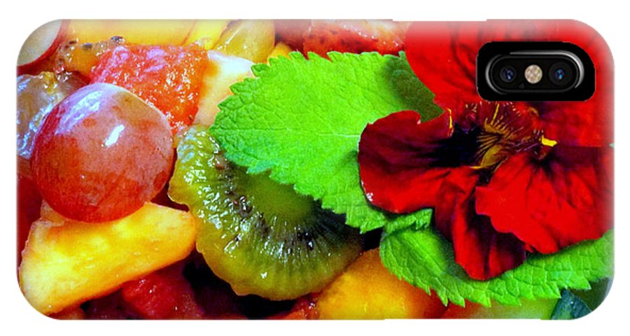 Nasturtium IPhone X Case featuring the photograph Fruit Salad by Rebecca Malo