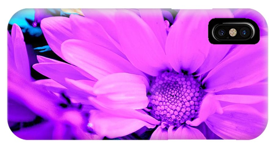 Pink Flower IPhone X Case featuring the photograph Fuchsia Flower by LLaura Burge