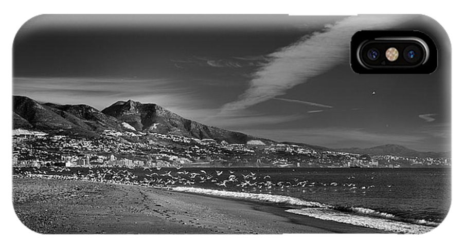 Seascape IPhone X Case featuring the photograph Fuengirola Beach by Guido Montanes Castillo