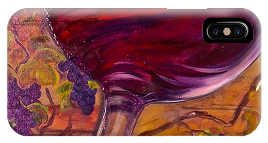 Wine IPhone X Case featuring the painting Full Body by Debi Starr
