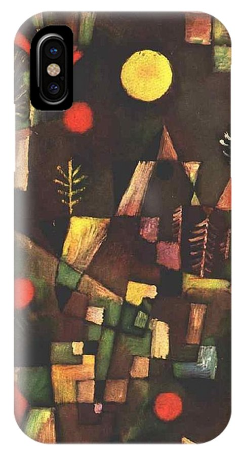 Paul IPhone X Case featuring the painting Full Moon 1919 by Paul Klee