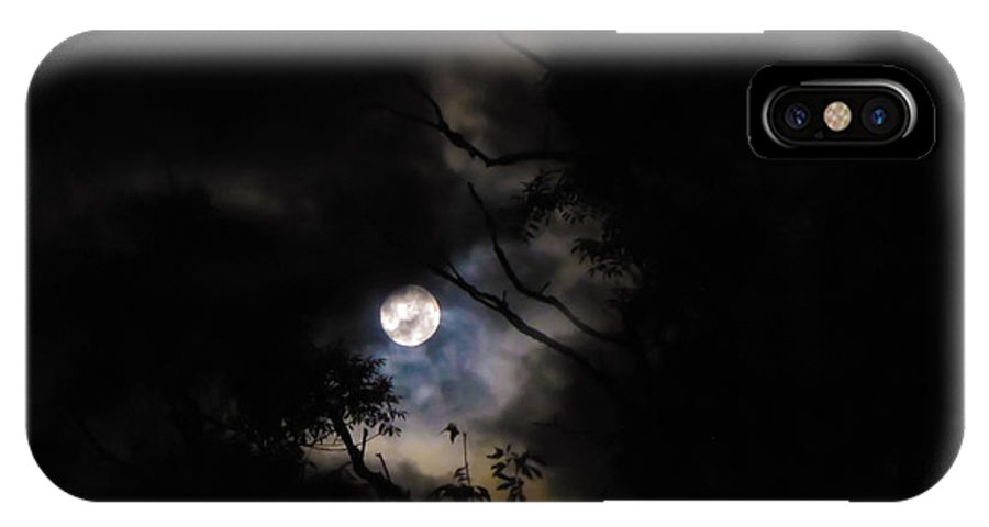 Moon IPhone X Case featuring the photograph Full Moon by Natasa Cvetkovic