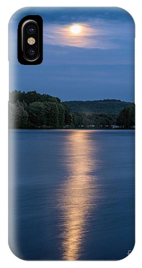 Locke Lake IPhone X Case featuring the photograph Full Moon Over Locke Lake by Sharon Seaward