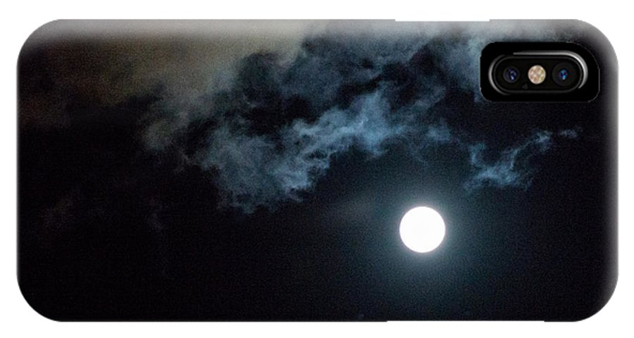 Arizona IPhone X Case featuring the photograph Full Moon Over Tucson by John Carroll