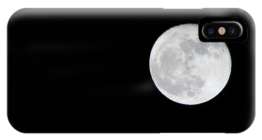Moons IPhone X / XS Case featuring the photograph Full Moon by Randy Harris
