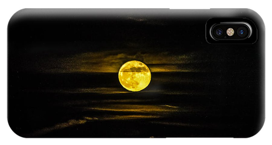 Scenic IPhone X Case featuring the photograph Full Moon Rising by Everett Leigh