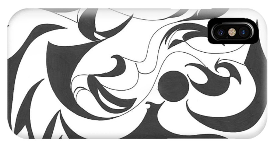 Flowing IPhone X Case featuring the drawing Full Of Flow by Delfina Alden