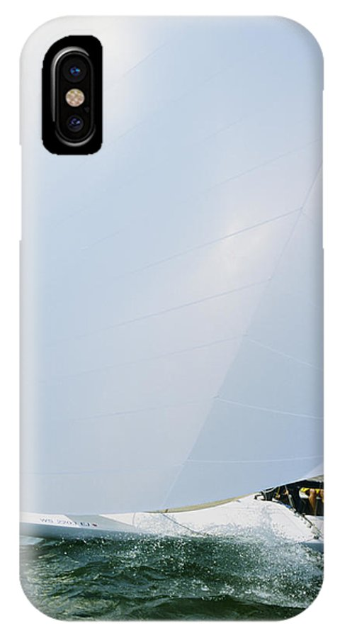 Sail Boat IPhone X Case featuring the photograph Full Spinnaker by Bruce Thompson