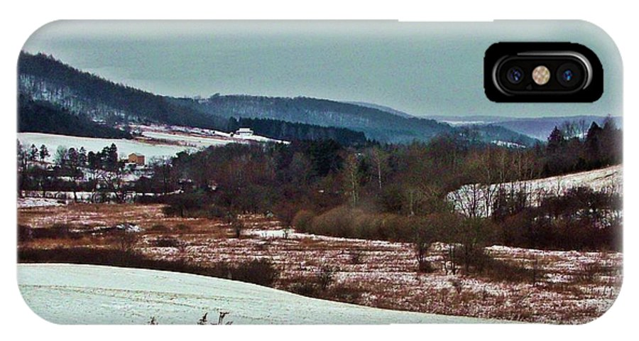 Western Ny State IPhone X Case featuring the photograph Fulmer Valley In Winter by Christian Mattison